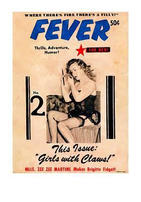 Digital Art - Fever - Vintage Magazines Covers Series by Gabriel T Toro