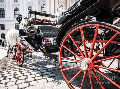 Photograph - Fiaker Carriage In Vienna by JR Photography