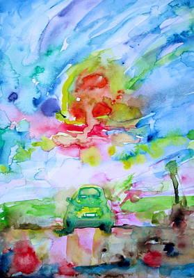 Painting - Fiat 500 by Fabrizio Cassetta