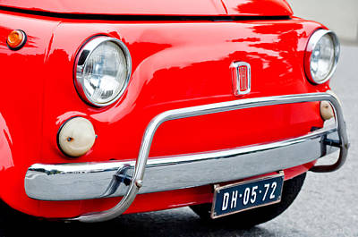 Photograph - Fiat 500 L Front End by Jill Reger