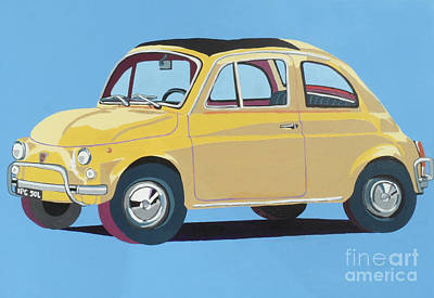 Fiat Car Painting - Fiat 500 by Nicky Leigh