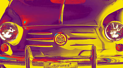 Photograph - Fiat 600 Pop Art by Bill Owen