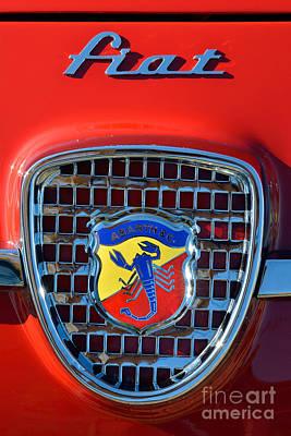 Logo Photograph - 1961 Fiat Abarth 750gt Allemano Spider by George Atsametakis