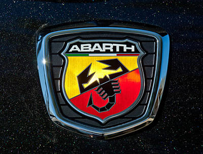 Fiat Abarth Emblem Art Print by Jill Reger