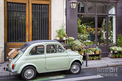 Photograph - Fiat And Flowers by Brian Jannsen