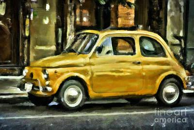 Classic Fiat Digital Art - Fiat Art by F Icarus
