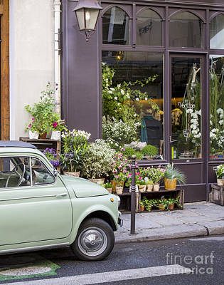Photograph - Fiat At The Flower Shop by Brian Jannsen