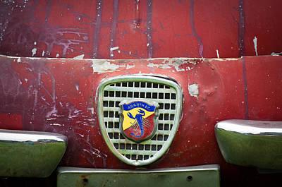Photograph - Fiat Grille Emblem -0725c by Jill Reger