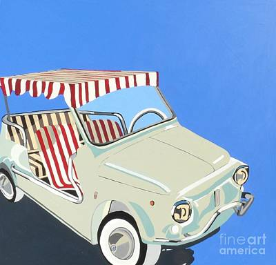 Fiat Car Painting - Fiat With Canape by Nicky Leigh