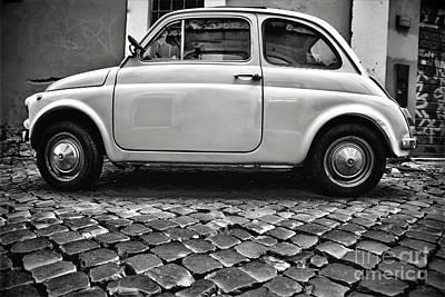 Classic Fiat Digital Art - Fiat500 by F Icarus