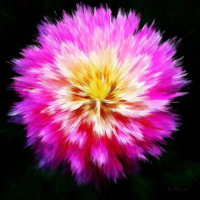 Photograph - Fiber Dahlia by Nick Kloepping