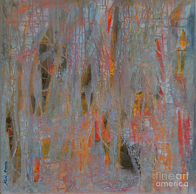 Art Print featuring the painting Fibres Of My Being by Mini Arora