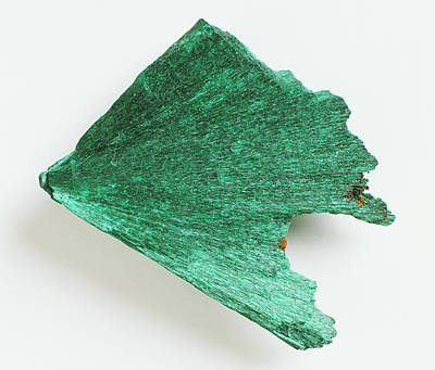 Malachite Photograph - Fibrous Malachite by Dorling Kindersley/uig