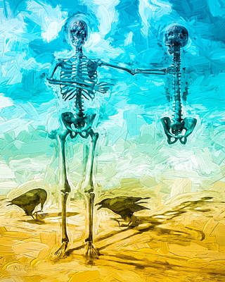 Bird Skeleton Painting - Fickle Finger Of Fate by Bob Orsillo