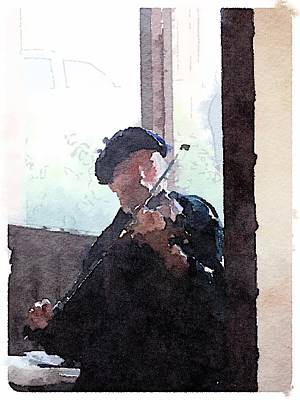 Digital Art - Fiddle Player by Shannon Grissom