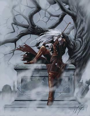 Spooky Digital Art - Fiddler by Bryan Syme
