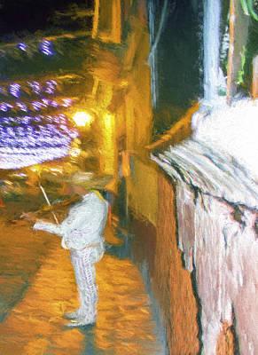 Fiddler Digital Art - Fiddler On The Street  by Cathy Anderson