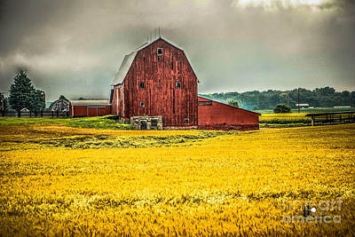 Photograph - Field And Barn by Grace Grogan