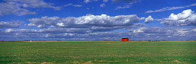 Red Barns Photograph - Field And Barn Saskatchewan Canada by Panoramic Images