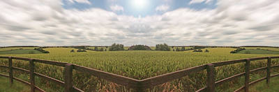 Field And Sky, South England Art Print by Vast Photography