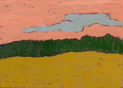 Field At Sunset Art Print