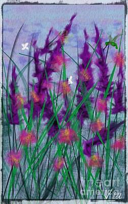 Painting - Field Flowers by Judy Via-Wolff