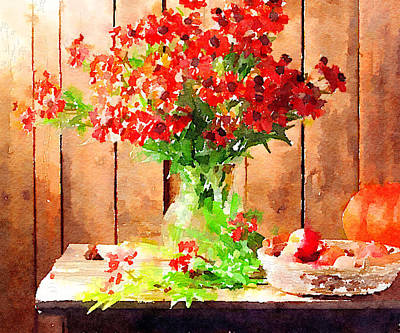 Interior Still Life Digital Art - Field Flowers by Yury Malkov