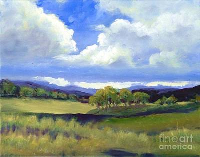 Painting - Field In Spring by Sally Simon