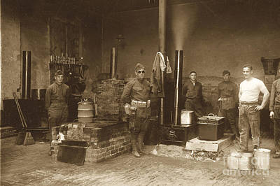 Photograph - Field Kitchen World War One 1918 by California Views Mr Pat Hathaway Archives