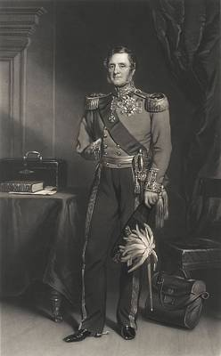 Regalia Drawing - Field Marshal Lord Raglan by F. Grant