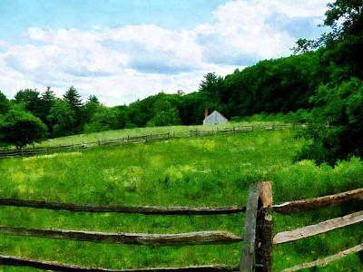 Meadow Photograph - Field Near Weathered Barn by Susan Savad