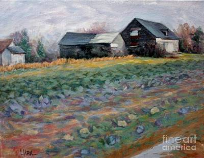 Cauliflower Painting - Field Of Cabbages by Linda Hall