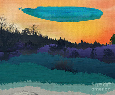 Field Of Colors And Shades Art Print by Bedros Awak
