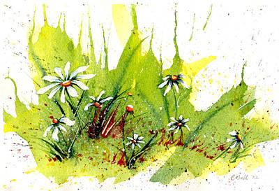 Marguerite Flowers Painting - Field Of Daisies by Claire Bull