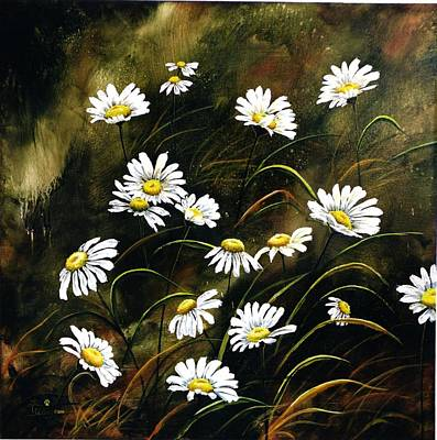 Painting - Field Of Daisy's by Lori Salisbury