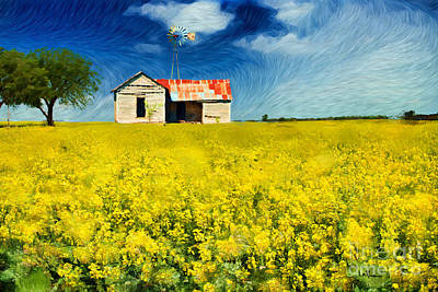 Desolate Digital Art - Field Of Dreams by Betty LaRue