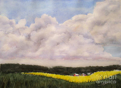 Spring Storm Painting - Field Of Dreams by Mohamed Hirji