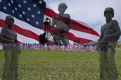 Butte Montana Photograph - Field Of Flags by Kevin Bone