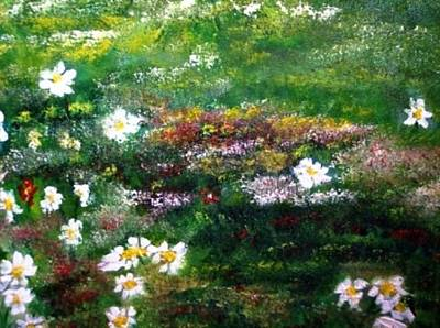 Painting - Field Of Flowers by The GYPSY