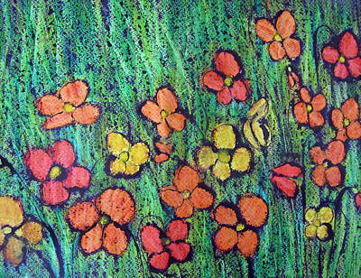 Painting - Field Of Flowers by Elvira Ingram