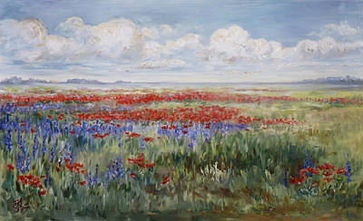 Painting - Field Of Flowers by Irek Szelag