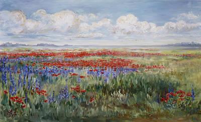Meadow Painting - Field Of Flowers by Irek Szelag