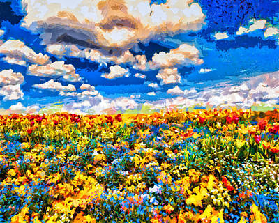 Digital Art - Field Of Flowers by Joe Misrasi