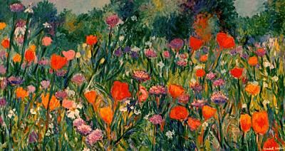 Field Of Flowers Art Print by Kendall Kessler