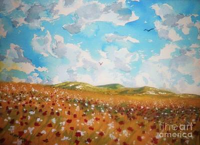 Field Of Flowers Art Print by Suzanne McKay