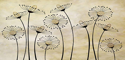 Free Mixed Media - Field Of Flowers Within 1 by Angelina Vick