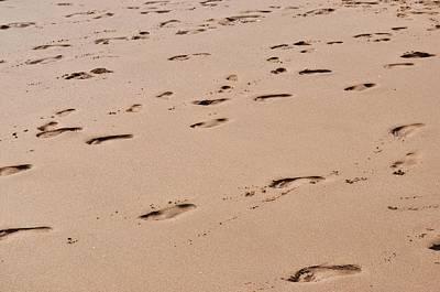 Field Of Footprints Art Print by Dan  Grover