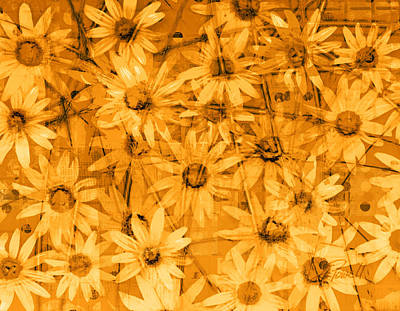 Browns And Golds Digital Art - Field Of Gold by Ann Powell