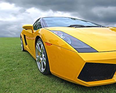 Photograph - Field Of Gold - Lamborghini - Horizontal by Gill Billington
