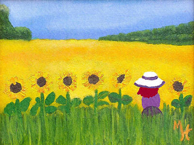Painting - Field Of Gold by Margaret Harmon